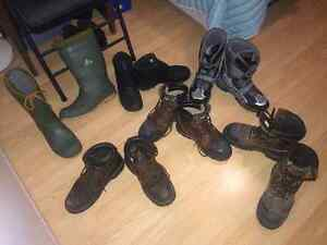 MENS BOOTS, WORK BOOTS AND SHOES (Estate sale)