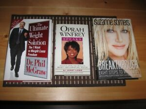 BOOKS - DR. PHIL / OPRAH / SUZANNE SOMERS - REDUCED!!!!