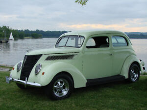 RARE ALL STEEL BODY 1937 FORD TUDOR SLANTBACK $26500.00