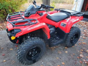 2018 Can-am Outlander 450, 112 km with 60 in Plow and Warn Winch