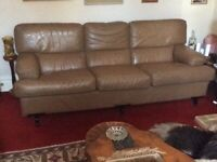 Quality soft vintage leather sofa