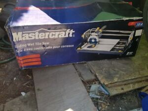 Mastercraft 10A Sliding wet Tile saw 7""