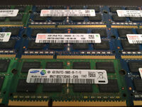 4GB RAM MÉMOIRE DDR3 10600/1333MHZ LAPTOP 4GB 30$