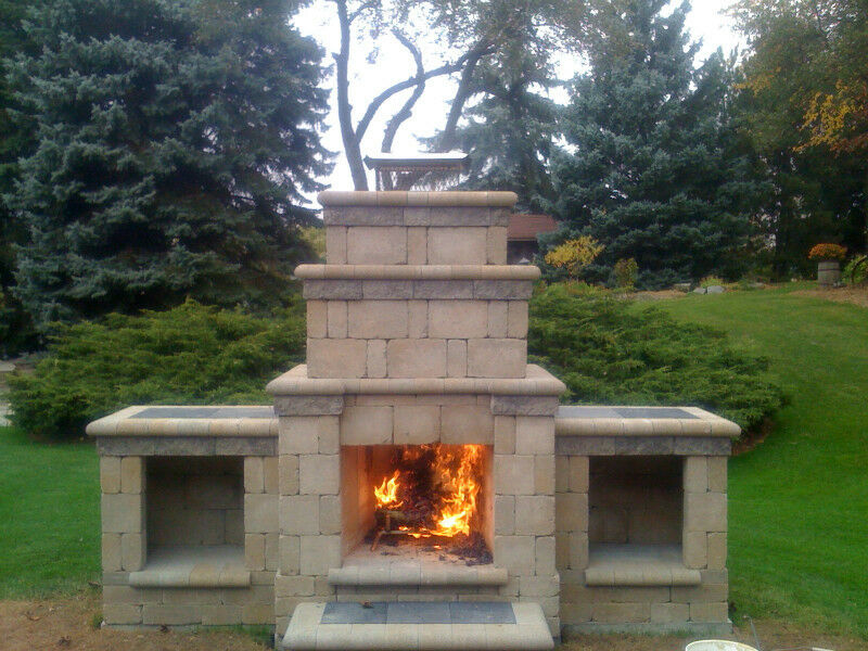 Outdoor fireplace kit other regina kijiji for Prefab outdoor fireplaces