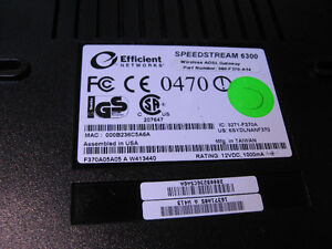 ADSL Modem Efficient Networks SpeedStream 6300 WiFi 060-F370-A14 West Island Greater Montréal image 2