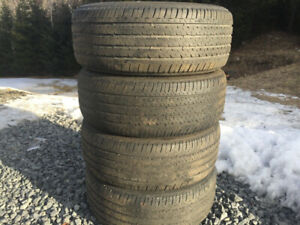 Four Firestone 215/55R16 Summer Tires