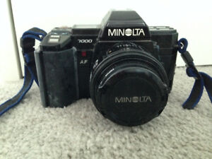 Minolta 7000 with Lens Filters/Flashes