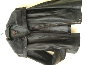 Winter leather jacket