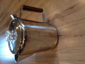 Camping coffe perculator café. Stainless stell NEW