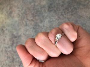 .51 carat diamond ring set in 14 karat white gold band. Size 4