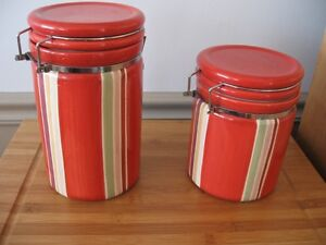 JILL ROSENWALD striped clamp seal canisters