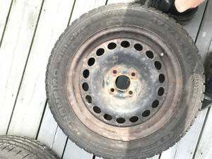 2 winter tires for sale 195/55 R15 4 bolt pattern
