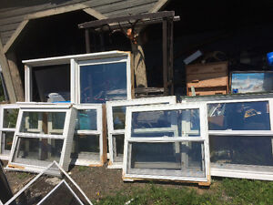 Wooden windows for sale.