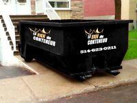 Location de conteneur / container à rebuts