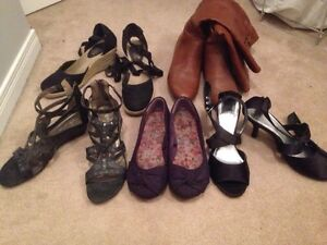 5 Pairs Shoes/Boots-----size 10