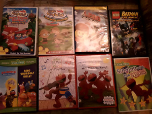 Kids / Toddler DVDs: $1 each or All 8 for  $5