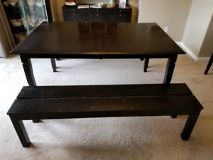 Dining Table and IKEA Benches