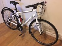 **Women's Specialized hybrid white bike PACKAGE**