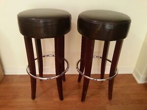 Leather counter/bar stools