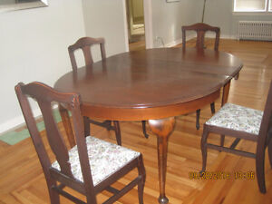 Oval Wooden Dining Table with 6 Chairs St. John's Newfoundland image 1