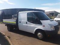Ford Transit Double cab / flatbed drop side pickup **Ex council 92k **