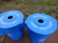 Recycle Bins and Garbage Barrels