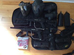 2 Tippman A5 paintball marker plus gear