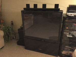 Reduced Again! Stylish 50 in. Hitachi Projection TV