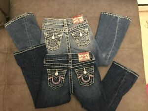 Size 4 girls Brand name clothing,True Religon Jeans,Guess Jeggin