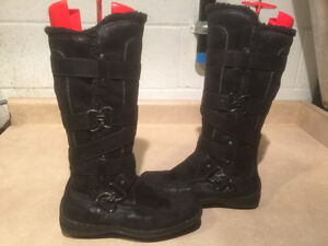 Women's Tall Leather Winter Boots Size 6.5 London Ontario image 1