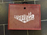 Boxed collection of board games