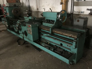 Large industrial lathe