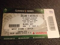 Rugby Ireland v Australia west stand upper X1 ticket