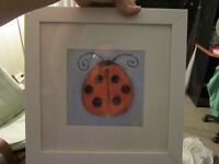 cute painting of a ladybug