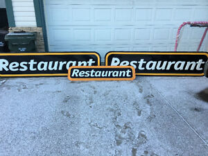 Signs for restaurant