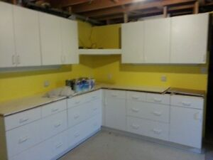 Kitchen Cabinet and top with sink and faucet