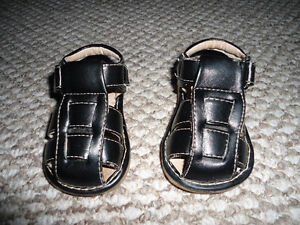 Leather squeaky sandals - size 3 - excellent  condition