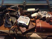 Vintage cine cameras