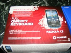 Moving/downsizing sale- Rogers Nokia C3 pay as you go