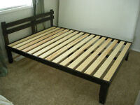 Solid wood Queen sized platform bed