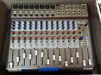 Alesis Multimix 16 channel USB mixer and flight case - OFFERS WELCOME