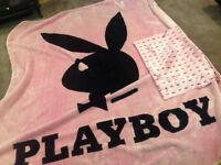 Play boy blanket and pillow case