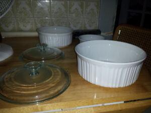 New CorningWare French White 7-Piece Bakeware Set
