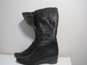 New 7 size leather boots, Italy, $85 Kitchener / Waterloo Kitchener Area image 1
