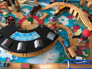 Imaginarium train table with 30 trains
