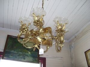 Solid  Brass Ceiling Light - very heavy