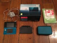 Metallic blue Nintendo 3DS Console boxed.