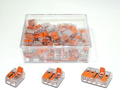 80 Stück Wago Serie 221 Klemmen Klemme Verbindungsklemme Sortiment Box Set NEU
