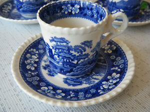 Copeland Spode's Tower Espresso cup and saucer sets