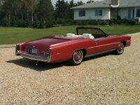 well maintained classic cadillac eldorado convertable